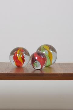 Claudia List Set of Three Huge Glass Balls by Claudia List Germany 2007 - 1033941