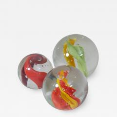 Claudia List Set of Three Huge Glass Balls by Claudia List Germany 2007 - 1034163