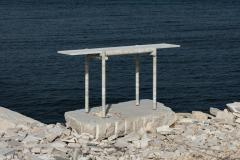Clement Brazille Original Ocean Travertine Console by Clement Brazille - 1340341