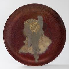 Clement Massier French Art Nouveau Round Ceramic Decorative Charger - 160995