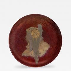 Clement Massier French Art Nouveau Round Ceramic Decorative Charger - 161654