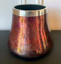 Clement Massier French Japonesque Art Nouveau Lusterware Vase Clement Massier - 1984645