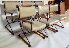 Cleo Baldon 6 Cleo Baldon Chocolate Lacquer Wrought Iron Chairs Terra C 1966 - 1148628