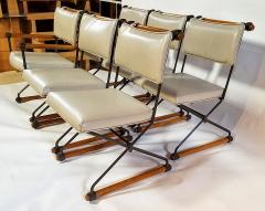 Cleo Baldon 6 Cleo Baldon Chocolate Lacquer Wrought Iron Chairs Terra C 1966 - 1148629