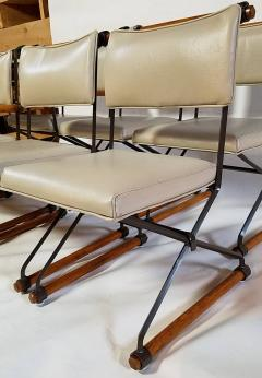Cleo Baldon 6 Cleo Baldon Chocolate Lacquer Wrought Iron Chairs Terra C 1966 - 1148630
