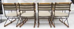 Cleo Baldon 6 Cleo Baldon Chocolate Lacquer Wrought Iron Chairs Terra C 1966 - 1148632