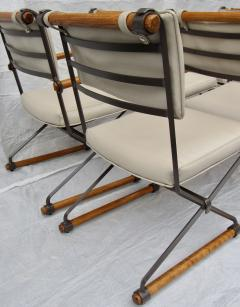 Cleo Baldon 6 Cleo Baldon Chocolate Lacquer Wrought Iron Chairs Terra C 1966 - 1148635