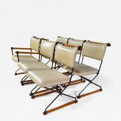 Cleo Baldon 6 Cleo Baldon Chocolate Lacquer Wrought Iron Chairs Terra C 1966 - 1149038
