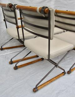 Cleo Baldon 8 Cleo Baldon Chocolate Lacquer Wrought Iron Chairs C
