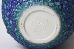 Cliff Lee Cliff Lee rare Teardrop blue glazed porcelain lava vase United States - 1222121