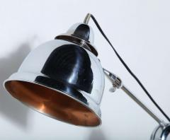 Club Health Products Adjustable Nickel Floor Lamp with Copper Lined Shade 1930s - 1676247