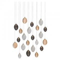 Cocoon 22 Blown Glass Pendant Dining Room Chandelier by Shakuff - 2140009