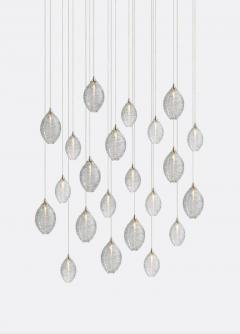 Cocoon 22 Blown Glass Pendant Dining Room Chandelier by Shakuff - 2140013