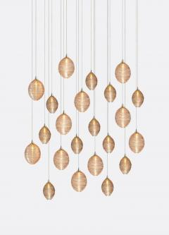 Cocoon 22 Blown Glass Pendant Dining Room Chandelier by Shakuff - 2140015