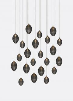 Cocoon 22 Blown Glass Pendant Dining Room Chandelier by Shakuff - 2140016