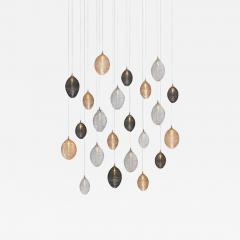 Cocoon 22 Blown Glass Pendant Dining Room Chandelier by Shakuff - 2144945
