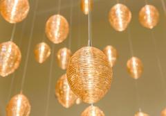 Cocoon 3 Blown Glass Pendant Bedside Chandelier by Shakuff - 2140184