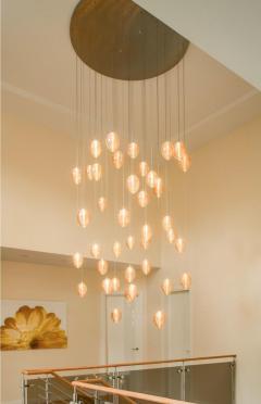 Cocoon 3 Blown Glass Pendant Bedside Chandelier by Shakuff - 2140186