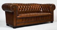 Cognac Leather English Chesterfield Sofa - 606870