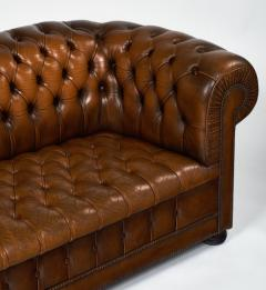 Cognac Leather English Chesterfield Sofa   606873