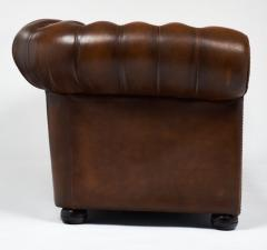 Cognac Leather English Chesterfield Sofa - 606875