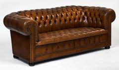 Cognac Leather English Chesterfield Sofa - 745740