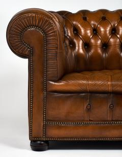 Cognac Leather English Chesterfield Sofa - 745741