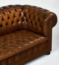 Cognac Leather English Chesterfield Sofa - 745743