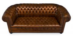 Cognac Leather English Chesterfield Sofa - 745744