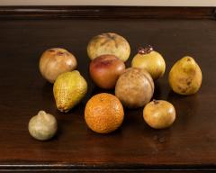 Collection of 18th century marble fruits - 2047311