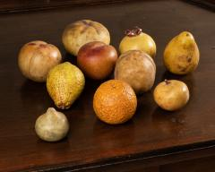 Collection of 18th century marble fruits - 2047313