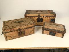 Collection of 3 Early Parchment Covered Boxes - 1040340