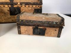 Collection of 3 Early Parchment Covered Boxes - 1040343