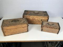 Collection of 3 Early Parchment Covered Boxes - 1040347