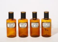 Collection of 7 Amber Glass Apothecary Jars - 2006472