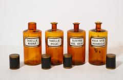 Collection of 7 Amber Glass Apothecary Jars - 2006479