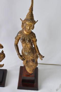 Collection of Vintage Thai Figure Lamps - 364990