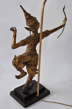 Collection of Vintage Thai Figure Lamps - 364992