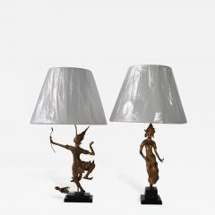 Collection of Vintage Thai Figure Lamps - 366401