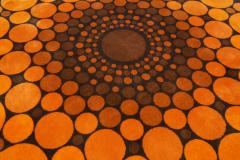 Colorful Round 1970s Carpet in Style of Verner Panton 1970s - 1873860