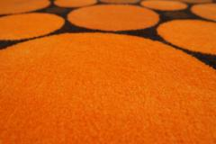 Colorful Round 1970s Carpet in Style of Verner Panton 1970s - 1873863