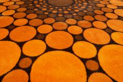 Colorful Round 1970s Carpet in Style of Verner Panton 1970s - 1873864
