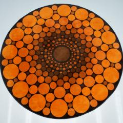 Colorful Round 1970s Carpet in Style of Verner Panton 1970s - 1873865