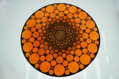 Colorful Round 1970s Carpet in Style of Verner Panton 1970s - 1873866
