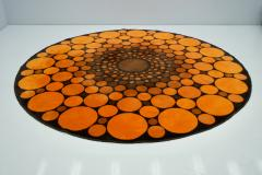 Colorful Round 1970s Carpet in Style of Verner Panton 1970s - 1873867