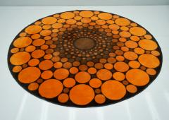 Colorful Round 1970s Carpet in Style of Verner Panton 1970s - 1873868