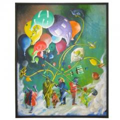 Colorful Whimsical Figurative Painting - 214135