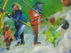 Colorful Whimsical Figurative Painting - 214136