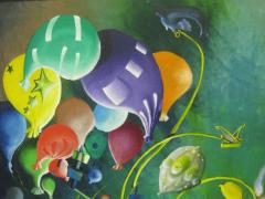 Colorful Whimsical Figurative Painting - 214139