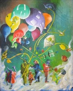 Colorful Whimsical Figurative Painting - 215922